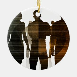 Geschäfts-Team der Fachleute stehend für Karriere Keramik Ornament