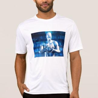 Geschäfts-Technologie-Gesamt-Netzwerk mit T-Shirt