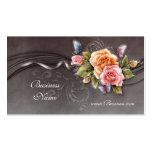 Geschäfts-Visitenkarte-Vintage rosa Rosen 2