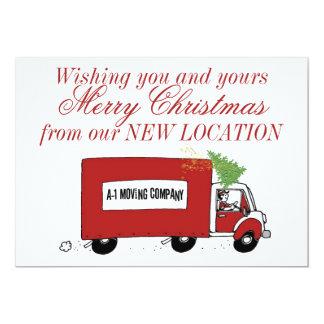 Geschäfts-Weihnachtsneue Adresse, die wir uns 12,7 X 17,8 Cm Einladungskarte