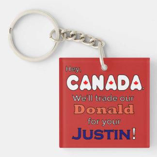 Geschäftsdonald für Justin-Widerstand Keychain Schlüsselanhänger