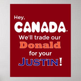 Geschäftsdonald für JustinantiTrumpf-Plakat Poster