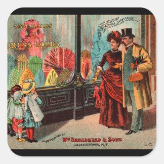 Geschäftskarte William Broadhead u. Söhne kleiden Quadratischer Aufkleber