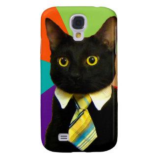 Geschäftskatze - schwarze Katze Galaxy S4 Hülle