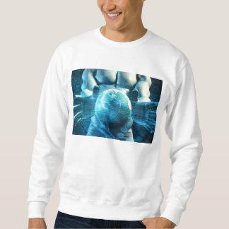 Geschäftsmann-Führungskraft, die Kugel hält Sweatshirt