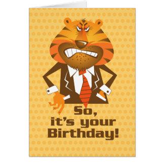Geschäftsmann-Geburtstag Karte