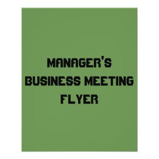 Geschäftstreffen-Flyer des Managers Flyer