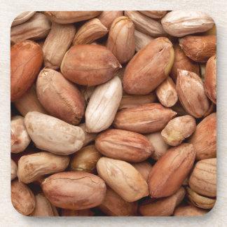 Geschälte Erdnüsse Getränkeuntersetzer