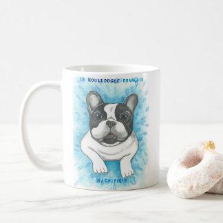 Gescheckte blaue Tasse der französischen Bulldogge