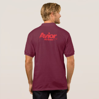 GESCHENK Avior Airliness IATA PASSANGER Aouth Luft Polo Shirt