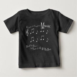 Geschenk-Baby-dunkler Jersey-T - Shirt