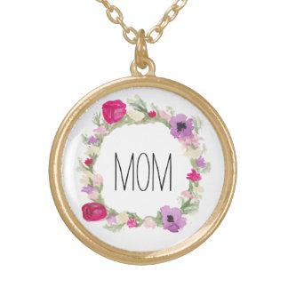 Geschenk-BlumenKranz-Halskette der Mutter Tages Vergoldete Kette