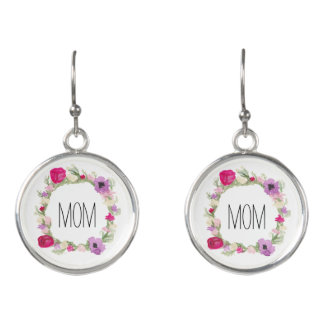 Geschenk-BlumenKranz-Ohrringe der Mutter Tages Ohrringe