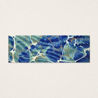 Geschenk-Buch-blaues Batik-Marmor-Lesezeichen Mini Visitenkarte