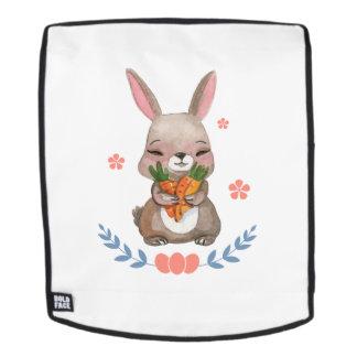 Geschenk der bunten Häschen-Ostern-Mann-Frauen Rucksack