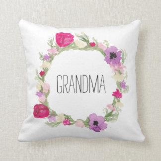 Geschenk der Großmutter-BlumenKranz-Kissen-Mutter Kissen