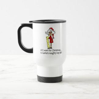 Geschenk der lustigen Frauen Weihnachts Teehaferl