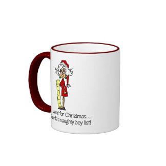 Geschenk der lustigen Frauen Weihnachts Tasse