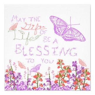 Geschenk des Leben-Schmetterlinges Quadratische 13,3 Cm Einladungskarte