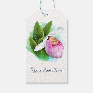 Geschenk etikettiert (10 Satz) rosa Frauenschuh Geschenkanhänger