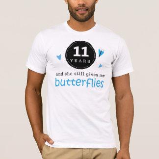 Geschenk für 11. Hochzeitstag-Schmetterling T-Shirt