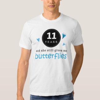 Geschenk für 11. Hochzeitstag-Schmetterling Tshirt