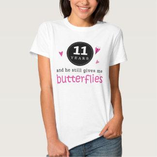Geschenk für 11. Hochzeitstag-Schmetterling Tshirts