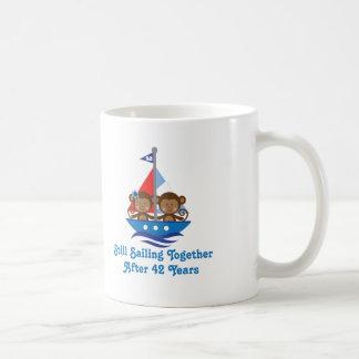 Geschenk für 42. Hochzeitstag-Affen Kaffeetasse