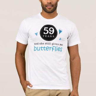 Geschenk für 58. Hochzeitstag-Schmetterling T-Shirt