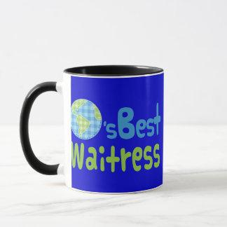 Geschenk-Idee für Kellnerin (Welten am besten) Tasse