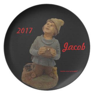GESCHENK JACOB-2017 FÜR MUTTER-MELAMIN-PLATTE TELLER