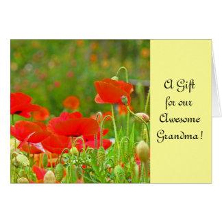 Geschenk-Karten ein Geschenk für unsere fantastisc