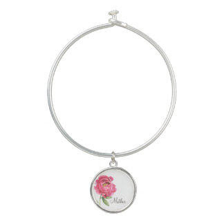 Geschenk-Pfingstrosen-Armband der Mutter Tages Armreif