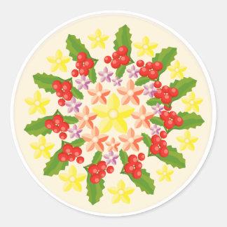 Geschenk-Satz-Gruß-Aufkleber - künstlerisches Runder Aufkleber