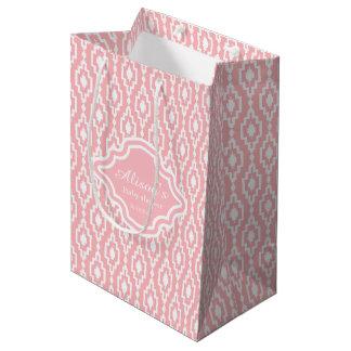 Geschenk-Tasche - rhombisches des Gitters Rosa Mittlere Geschenktüte