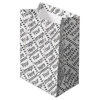 Geschenk-Taschen-kleines mit Ziegeln gedeckt Mittlere Geschenktüte