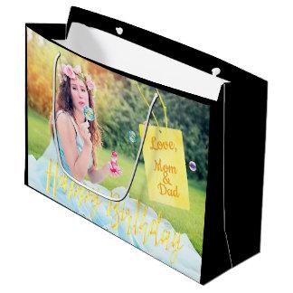 Geschenk-Taschenschwarzes des kundenspezifischen Große Geschenktüte