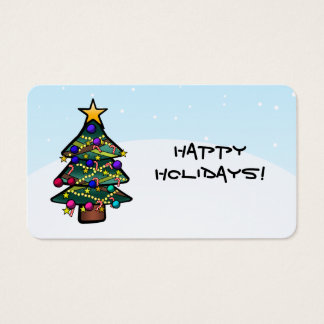 Geschenk-Umbau des Weihnachtsbaum-2 Visitenkarte