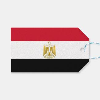 Geschenk-Umbau mit Flagge von Ägypten Geschenkanhänger