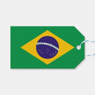 Geschenk-Umbau mit Flagge von Brasilien Geschenkanhänger