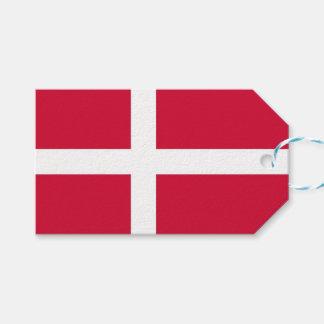 Geschenk-Umbau mit Flagge von Dänemark Geschenkanhänger