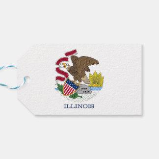 Geschenk-Umbau mit Flagge von Illinois-Staat, USA Geschenkanhänger