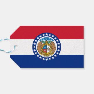 Geschenk-Umbau mit Flagge von Missouri-Staat, USA Geschenkanhänger