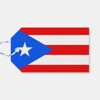 Geschenk-Umbau mit Flagge von Puerto Rico, USA Geschenkanhänger