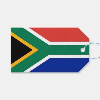 Geschenk-Umbau mit Flagge von Südafrika Geschenkanhänger