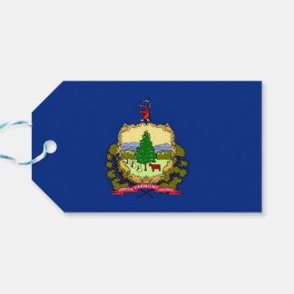 Geschenk-Umbau mit Flagge von Vermont-Staat, USA Geschenkanhänger