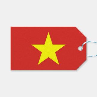 Geschenk-Umbau mit Flagge von Vietnam Geschenkanhänger
