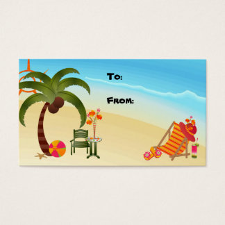 Geschenk-Umbau-tropisches Paradies Visitenkarte