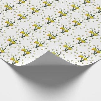 Geschenk-Verpackung - Narzissenblüten Geschenkpapier
