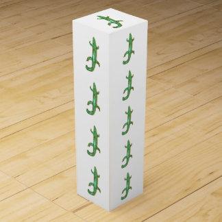 Geschenkboxen der grünen Eidechsen Wein-Geschenkverpackung